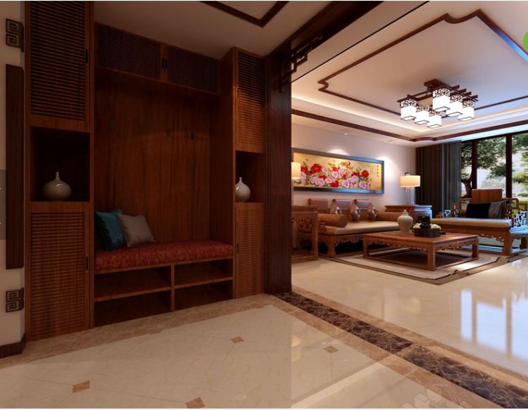 香山美墅中式风格装修效果图实景图