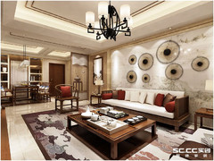 青岛龙湖滟澜海岸雲墅新中式别墅360㎡装修,大宅装修设计