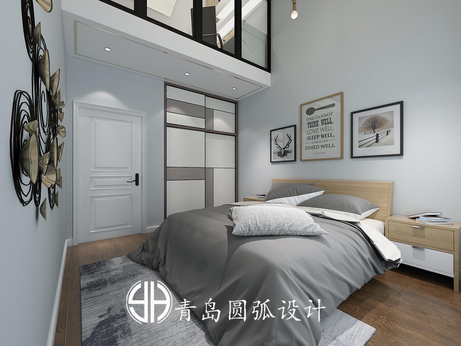 香港中路单身公寓现代简约装修效果图实景图