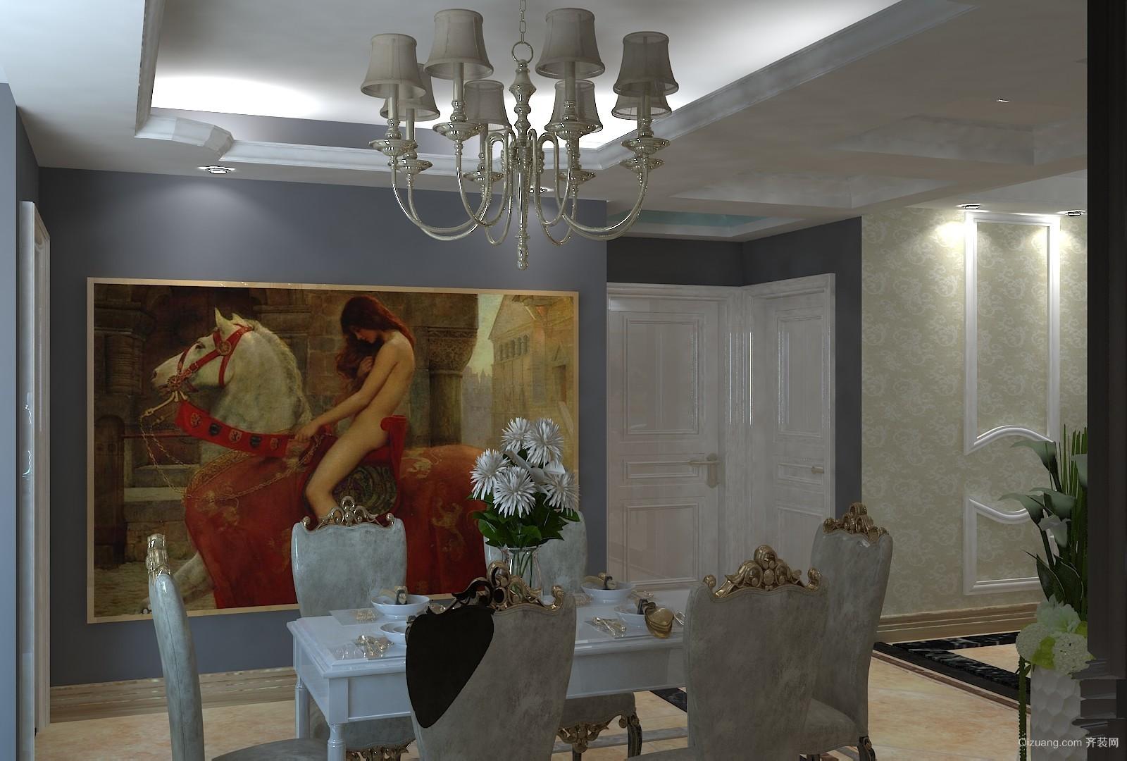 万达·维多利亚湾欧式风格装修效果图实景图