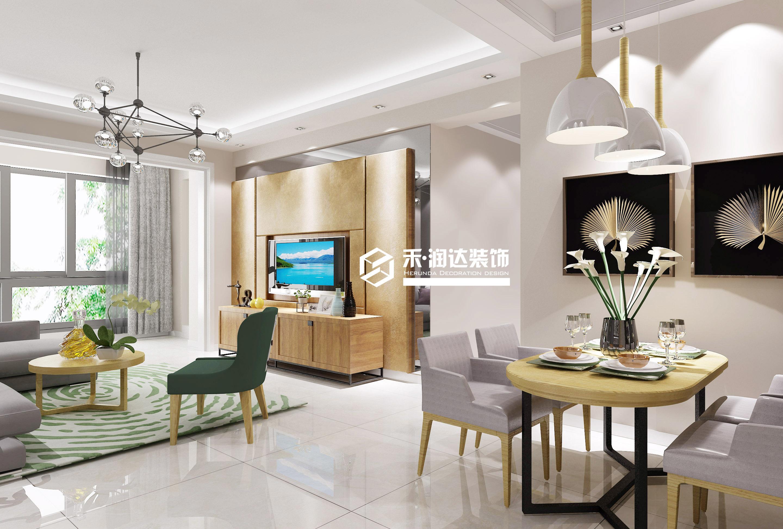 蓝光COCO香江2期现代简约装修效果图实景图