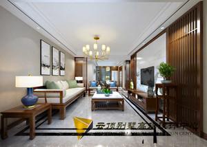 青岛145㎡中式风格装修效果图
