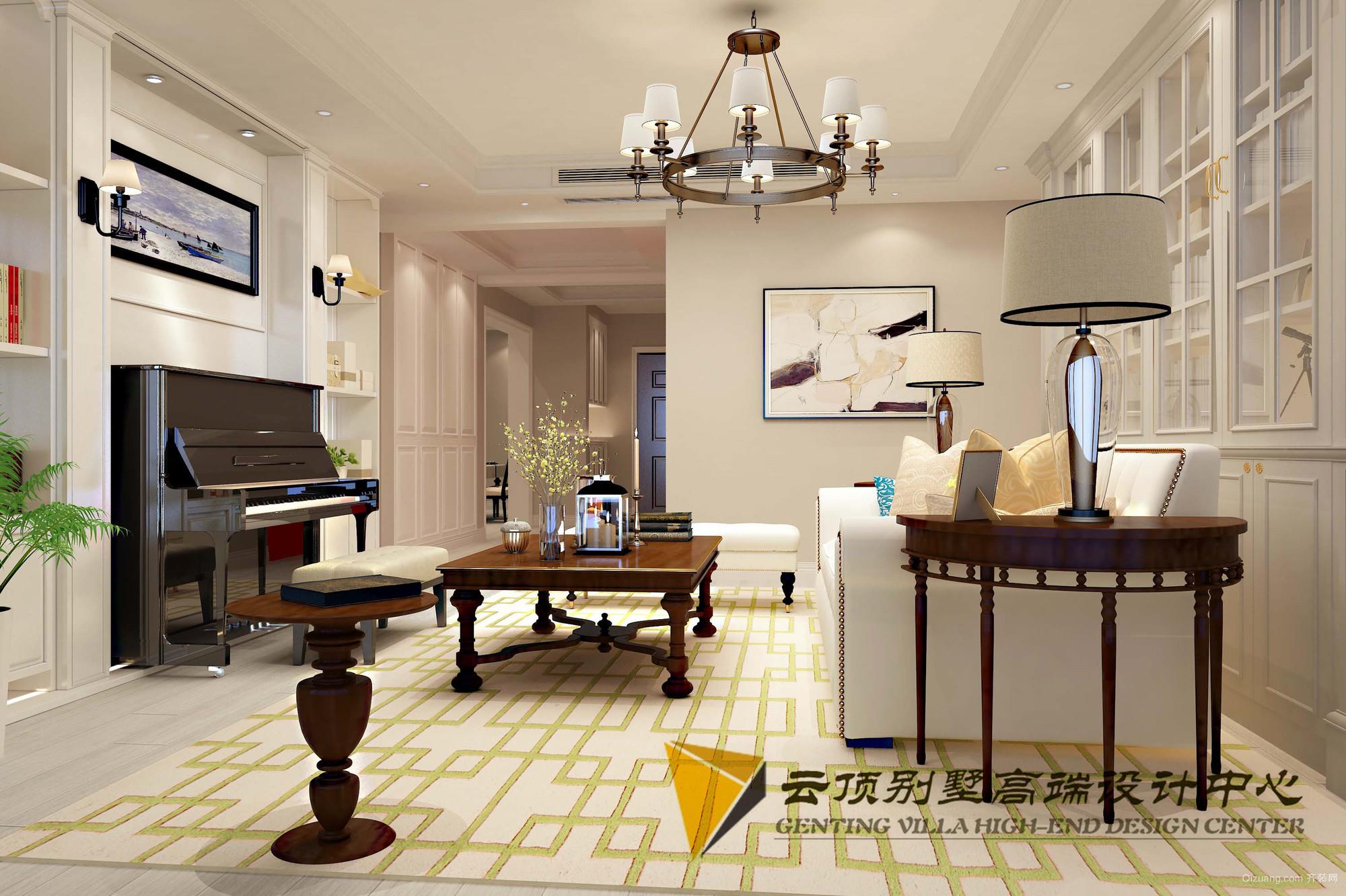 中南公寓美式风格装修效果图实景图