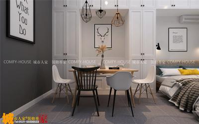 济南一室一厅小户型北欧风格装修效果图装修设计案例