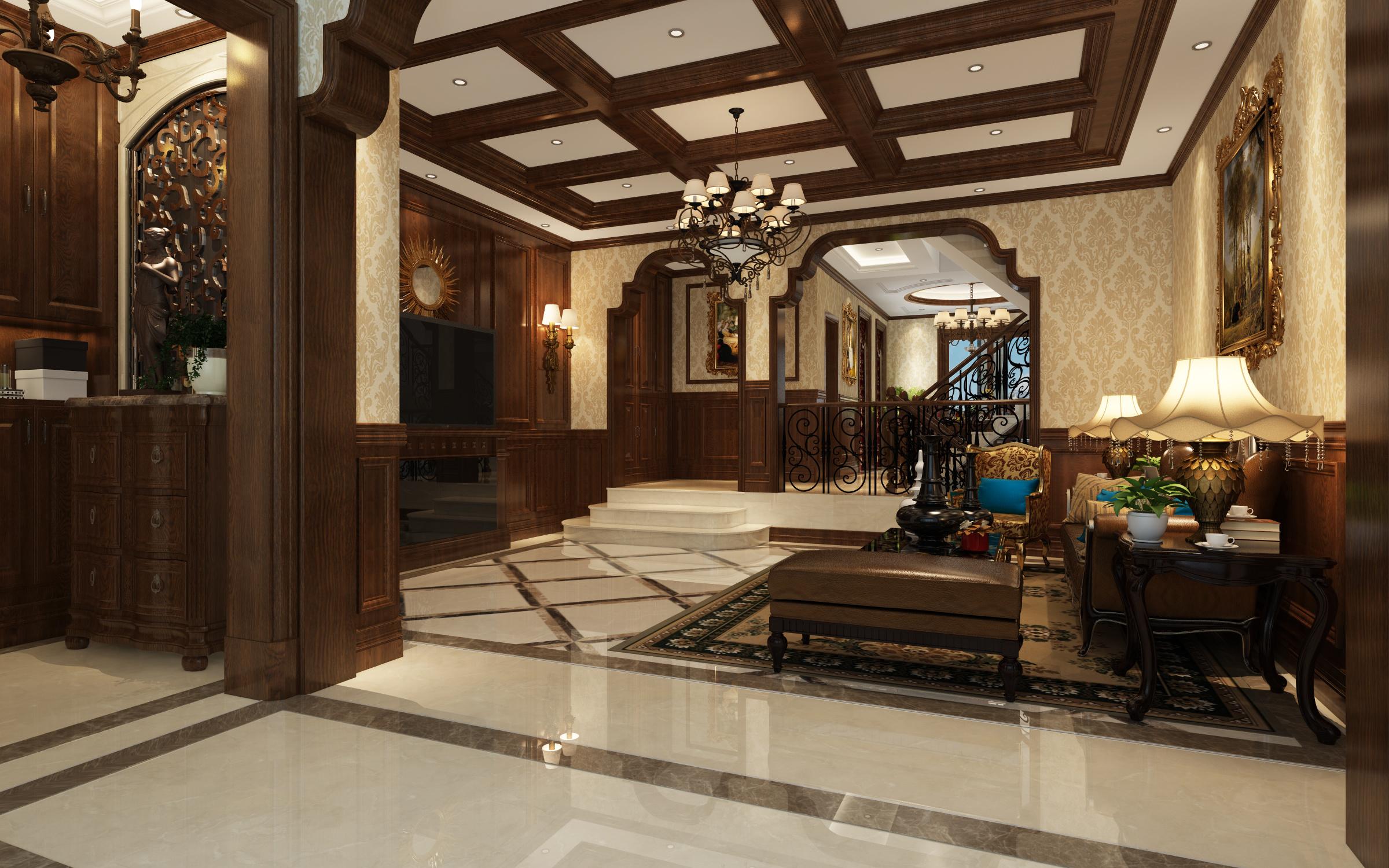 中央美墅美式风格装修效果图实景图