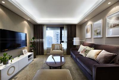 合肥宝能城三室两厅90平现代风格装修设计案例