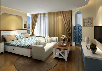 黄山地中海风格效果图装修设计案例