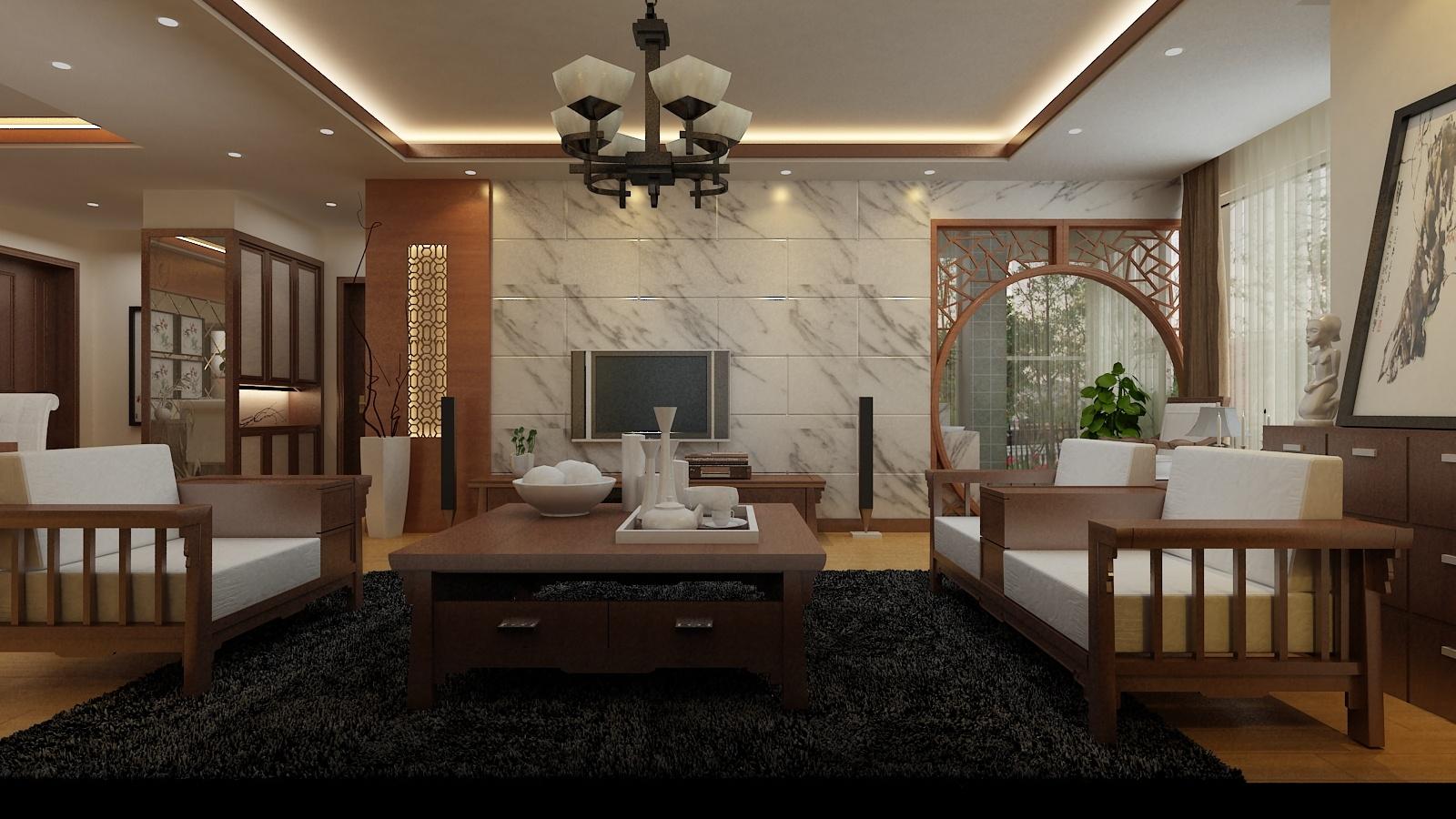 太平洋公寓中式风格装修效果图实景图