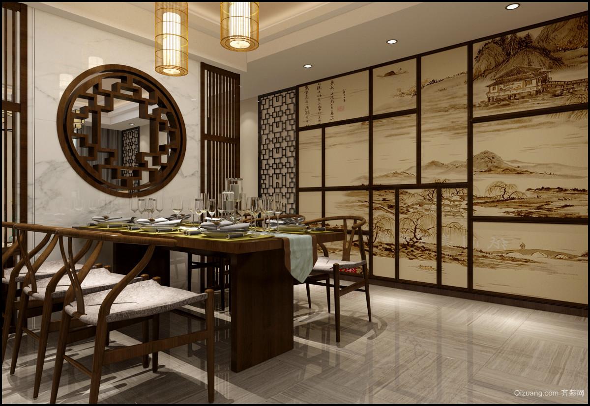 锦绣城中式风格装修效果图实景图
