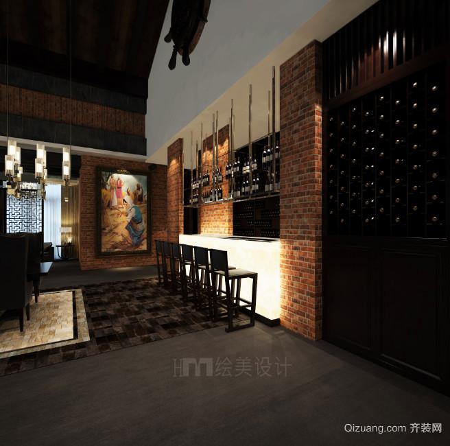 现代酒庄水印图混搭风格装修效果图实景图