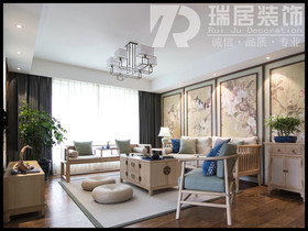 [瑞居装饰]中央城中式风格装修效果图