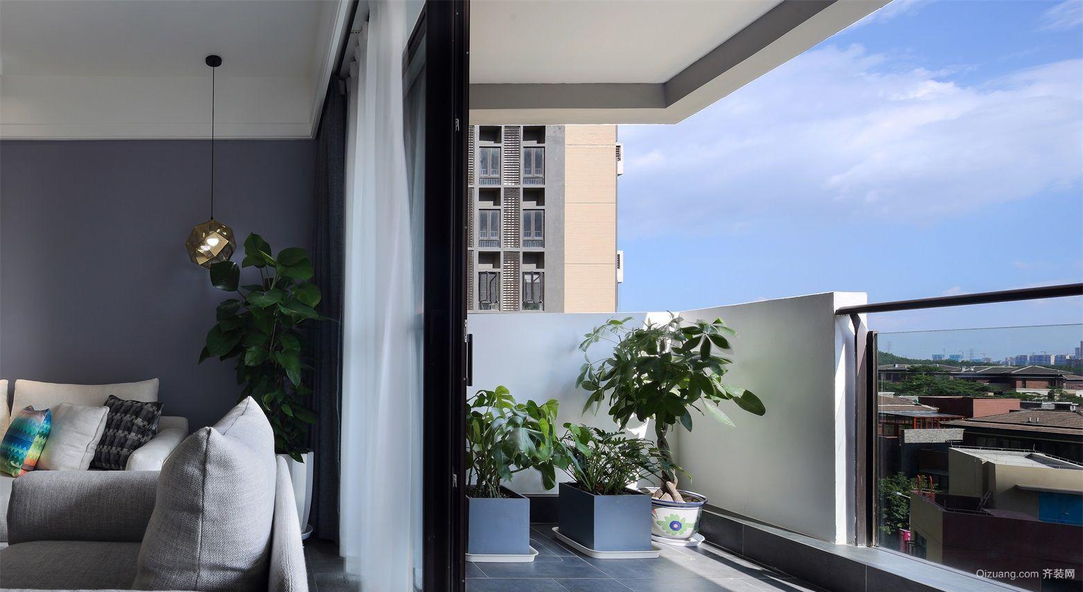 双威理想城二期现代简约装修效果图实景图