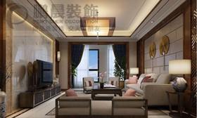 [鹏晨装饰]伟星玖璋台182平新中式风格装修效果图
