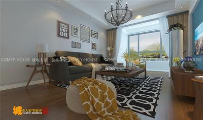 濟南泰悅赫府98平兩室兩廳裝修效果圖,環保材料裝修設計案例