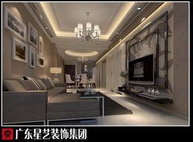 雍景台-黑白灰-89平方-二居室装修设计案例
