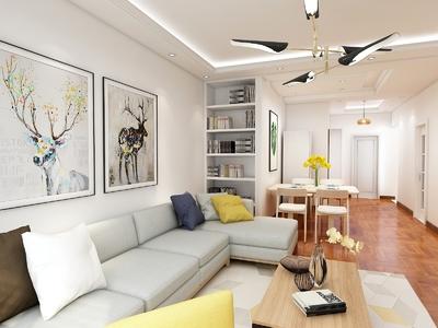 大廠潮白三期兩室兩廳一衛裝修設計案例