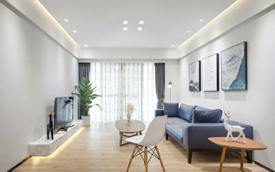 上海简约现代风格,简洁干练的三居室装修设计案例