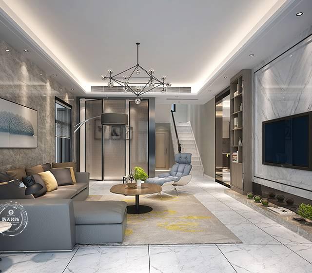 自建别墅300㎡别墅现代简约装修案例