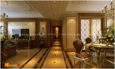 濟南國華新經典四室兩廳裝修效果圖,古典歐式裝修設計案例