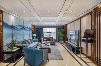 潍坊新中式客厅的美装修设计案例
