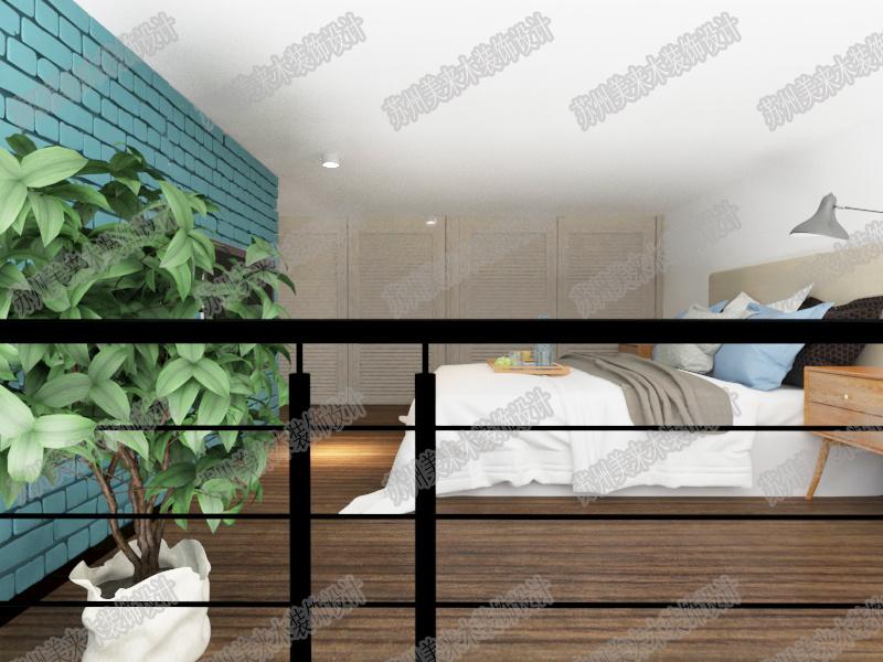 发现岛荟萃商业广场公寓现代简约装修效果图实景图