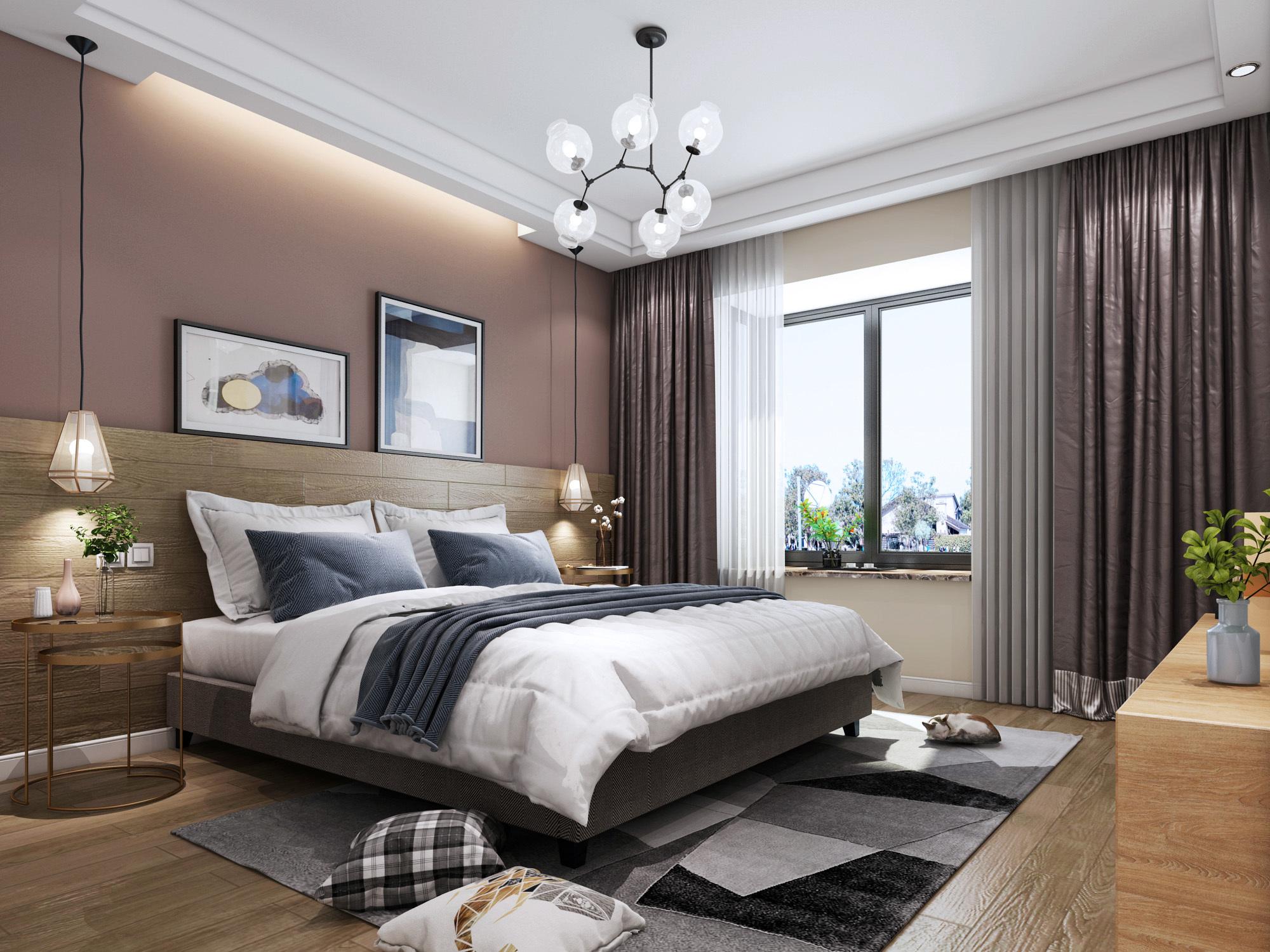 背景墙 房间 家居 起居室 设计 卧室 卧室装修 现代 装修 2000_1500