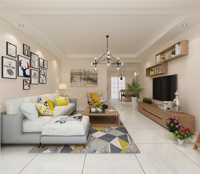 天津海城园 三室 现代简约装修设计案例