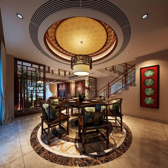 曦城360㎡别墅中式风格装修案例