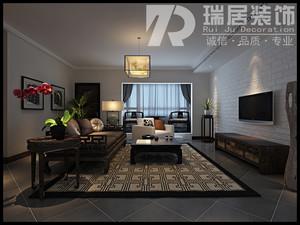 [瑞居装饰]官山翰林142平中式风格装修效果图案例