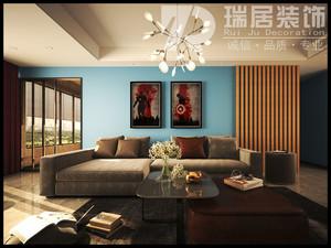[瑞居装饰]长江之歌150平现代风格装修效果图案例