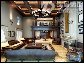 [瑞居装饰]柏庄香府别墅254平古典风格装修效果图案例