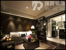 [瑞居装饰]东方蓝海124平现代风格博彩公司排名效果图案例