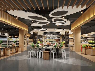 阜阳生鲜超市装修设计案例