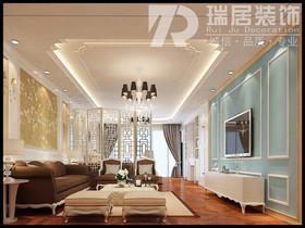 [瑞居装饰]保利信达·煕悦府139平古典风格装修效果图案例