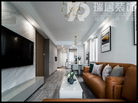 [瑞居装饰]长江之歌112平现代风格装修效果图案例