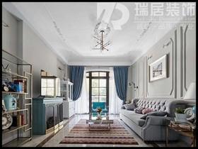 [瑞居装饰]张家山领秀城133平美式风格装修效果图案例