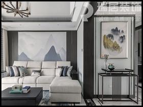 [瑞居装饰]伟星城108平中式风格装修效果图案例