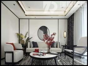 [瑞居装饰]华强城113平中式风格装修效果图案例