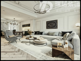 [瑞居装饰]东方龙城103平欧式风格装修效果图案例