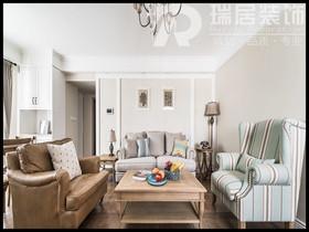 [瑞居装饰]柏庄观邸119平美式风格装修效果图案例