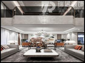[瑞居装饰]东方蓝海124平中式风格装修效果图案例