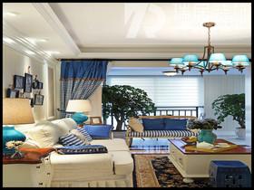 [瑞居装饰蔚蓝海岸140平田园风格装修效果图案例