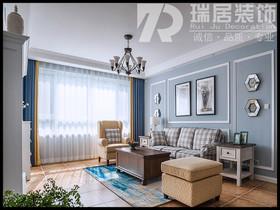 [瑞居装饰]新华联梦想城137平美式风格装修效果图案例