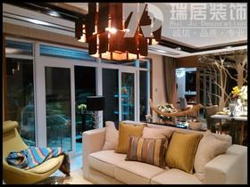 [瑞居装饰]蔚蓝海岸89平现代简约风格装修效果图案例