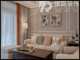 [瑞居装饰]长江之歌131平美式风格装修效果图案例