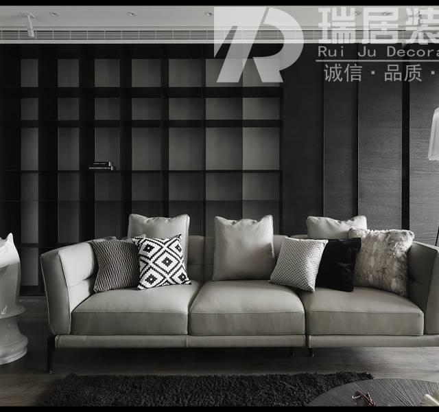 [瑞居装饰]荣盛华府110平现代风格装修效果图案例