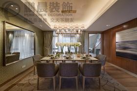 [鹏晨装饰]华强城颐景湾畔藏湖177平复式现代风格装修效果图
