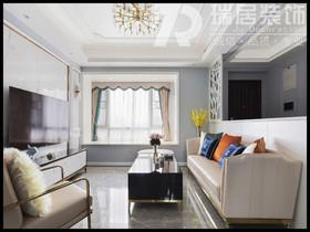 [瑞居装饰]蔚蓝海岸89平美式风格装修效果图案例