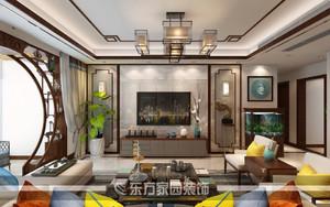 青岛118㎡中式风格装修效果图