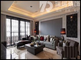 [瑞居装饰]长江之歌二期天誉138平田园风格装修效果图案例